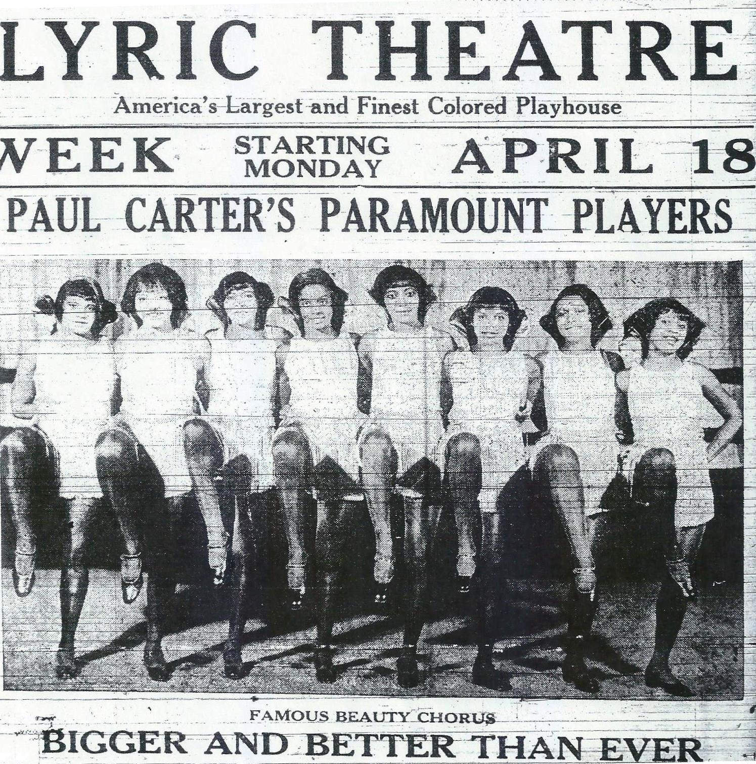 The lyric theatre 1919 1927 creolegen advertised as americas largest and finest colored playhouse the lyric theatre opened its doors on february 24 1919 at the corner of iberville and stopboris Images