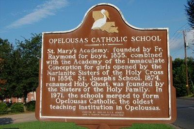 History Marker for Opelousas Catholic School