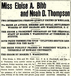 Eloise Bibb Thompson marriage