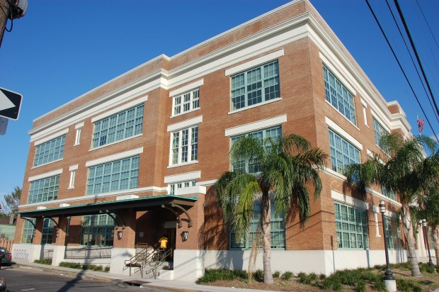 Photo of Joseph Craig Elementary School (New Orleans, LA) northwest side of school building.