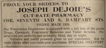 Joseph_Dejoie_Cut_Rate_Pharmacy_Woods_1912