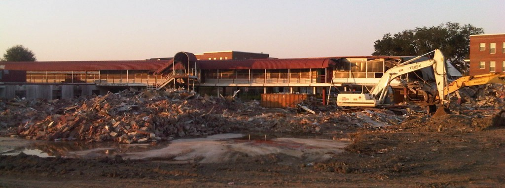 Lafon school being demolished in 2011