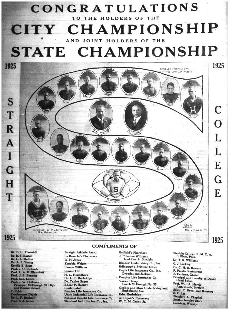 Straight College Team 1925
