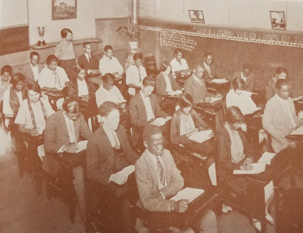 A typical well-disciplined classroom at McDonogh No. 35