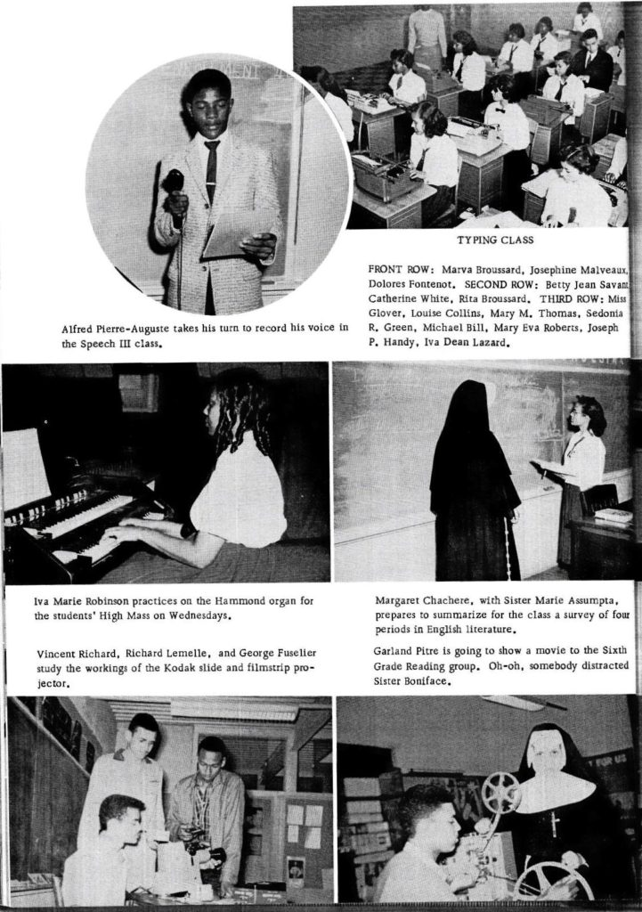 The Dove Yearbook of Holy Ghost Catholic School, Opelousas 1959